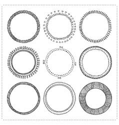 set of hand drawn doodle frames vector image