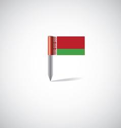 belarus flag pin vector image vector image