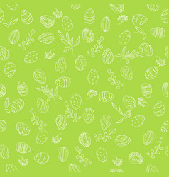 easter eggs floral pattern vector image vector image
