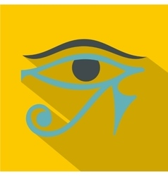 Eye of horus icon flat style vector