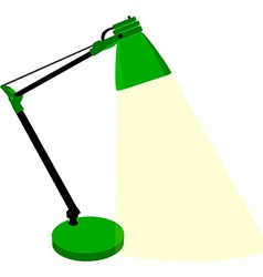 Green table lamp vector image