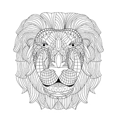 Lion head coloring for adults vector image