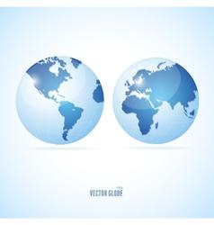 Vecrot globe set vector image