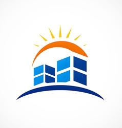 abstract city building logo vector image vector image