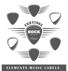 templates for music labels vector image vector image