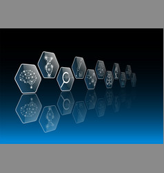 abstract background technology concept and icon vector image