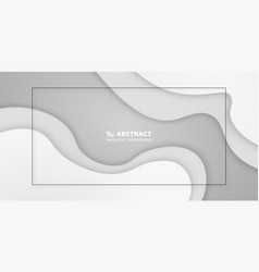 abstract gradient white paper cut background you vector image
