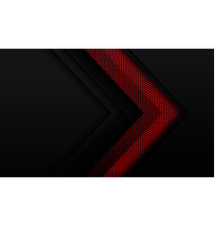 Abstract red metallic hexagon mesh dark grey vector