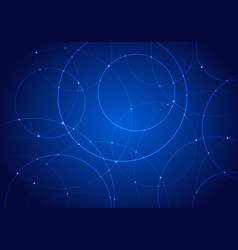 abstract technology futuristic style circles and vector image