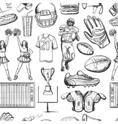 American Football Seamlees pattern vector image