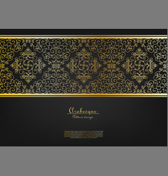 Arabesque abstract gold flower background vector