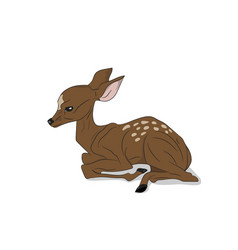 Baby deer lying silhouette vector