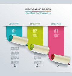 Banners with bent paper corners vector