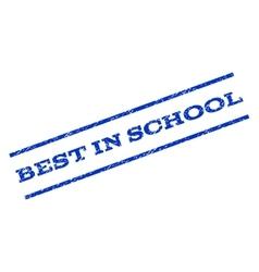 Best In School Watermark Stamp vector