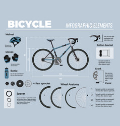 Bicycle infographic elements composition vector