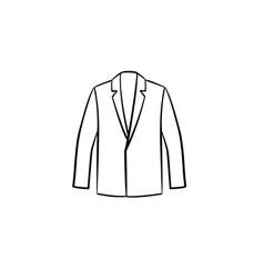 Blazer hand drawn sketch icon vector