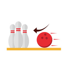 Bowling club sport and leisure game flat icon vector