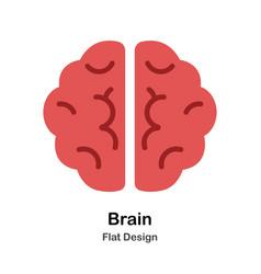 Brain flat vector