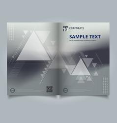 brochure abstract blurred background with vector image