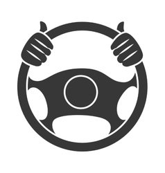 Car steering wheel icon vector image