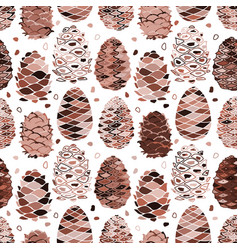 cedar cones seamless pattern for your design vector image