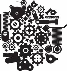 Cogs and cranks vector