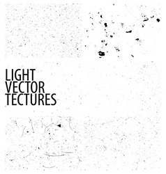 Collection of light grunge textures vector image