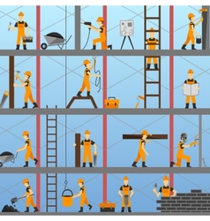 Construction Process Background vector image
