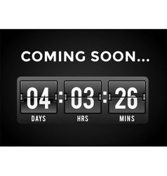 Countdown clock digits board panels timer vector