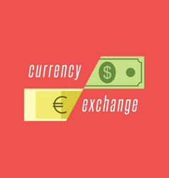 Currency exchange logo dollar bill and euro vector