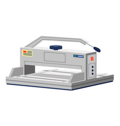 Cutting paper cutter element printing house vector