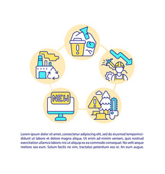 Decreased raw materials consumption concept line vector