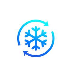 Defrost icon with arrows vector
