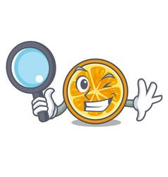 detective orange character cartoon style vector image