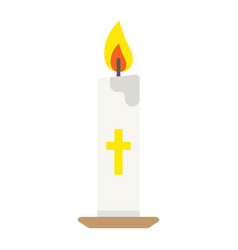 Easter candle flat icon easter and holiday vector
