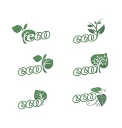 Eco icons 3 vector image vector image