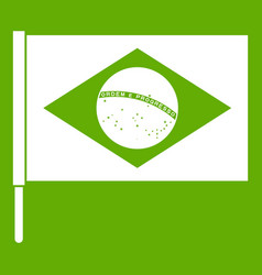 flag of brazil icon green vector image
