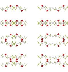 floral branch elements vector image