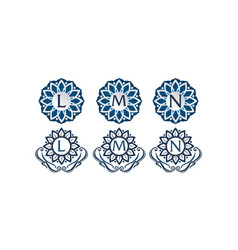 Flower elegant template set vector