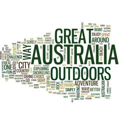 Great outdoors australia text background word vector