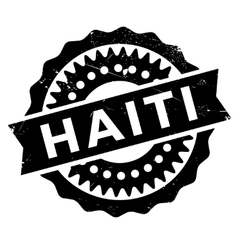Haiti stamp rubber grunge vector