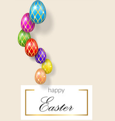 happy easter pastel background decorative text vector image