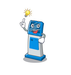 Have an idea digital information cartoon kiosk vector