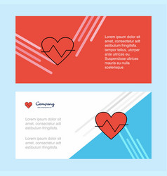 heart beat abstract corporate business banner vector image