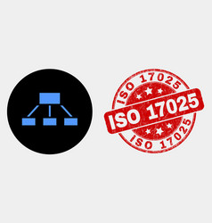 hierarchy icon and grunge iso 17025 vector image