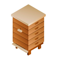 high bee hive icon isometric style vector image