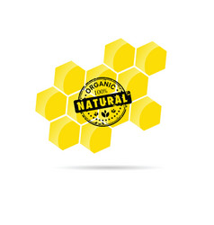 Honey natural healty in yellow color vector