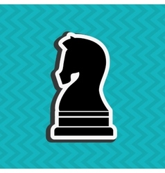 Horse chess design vector