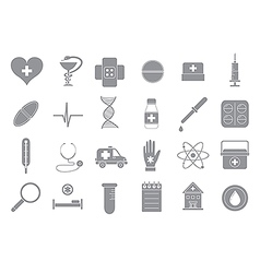 Hospital gray icons set vector image