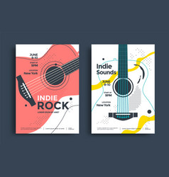 indie rock poster flyer template vector image